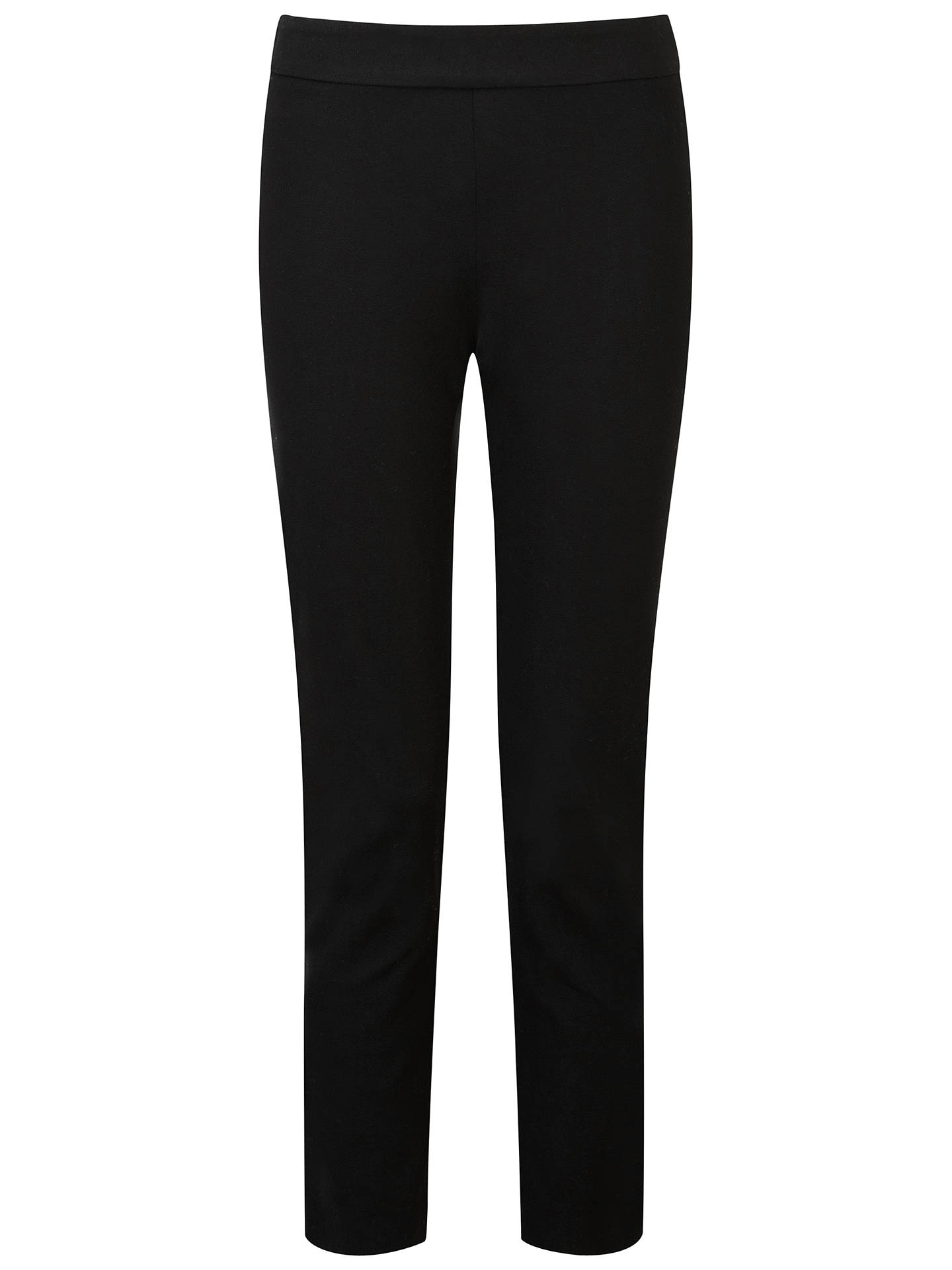 Buy Pure Collection Cotton Stretch Cropped Trousers, Black, 20 Online at johnlewis.com