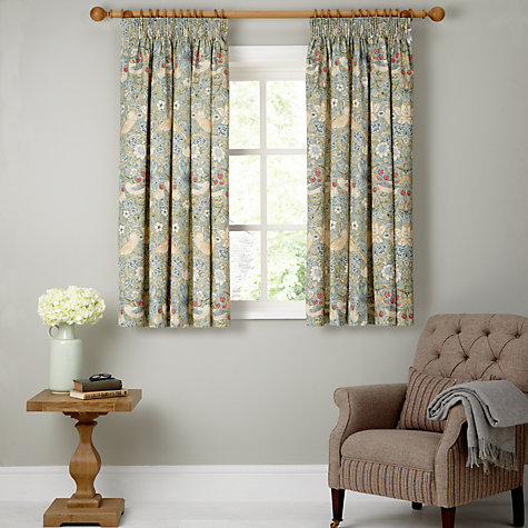 ... Buy Morris U0026 Co Strawberry Thief Lined Pencil Pleat Curtains Online At  Johnlewis.com
