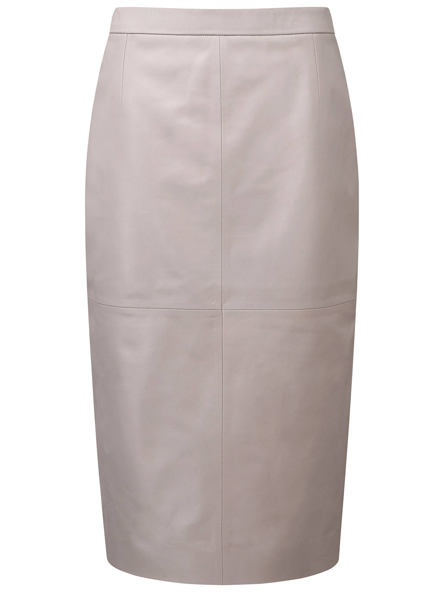 c833a9c5e7 Buy Pure Collection Maitland Leather Skirt, Grey/Taupe, 8 Online at  johnlewis.