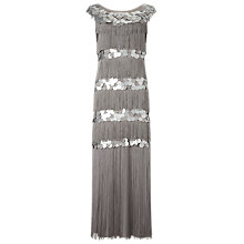 Buy Phase Eight Noleen Maxi Dress, Silver Online at johnlewis.com