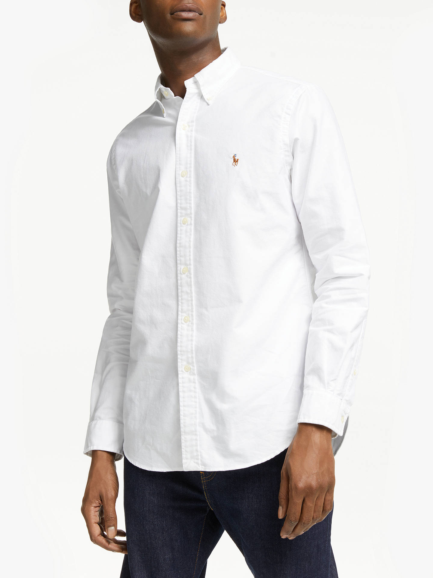 BuyPolo Ralph Lauren Oxford Shirt, White, S Online at johnlewis.com ... 336ac733ad99