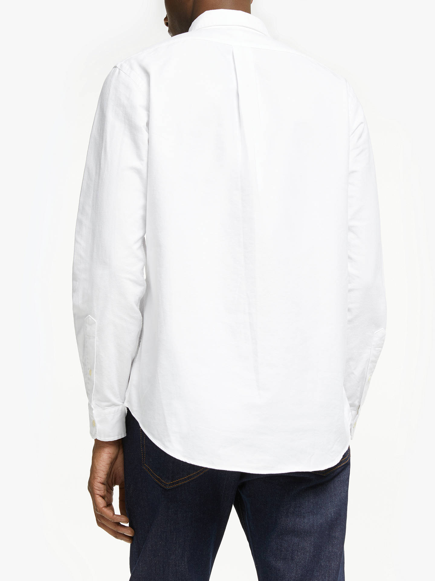 BuyPolo Ralph Lauren Oxford Shirt, White, S Online at johnlewis.com