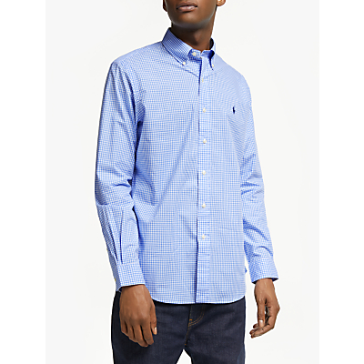 Product photo of Polo ralph lauren cotton poplin shirt blue white