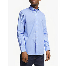 Buy Polo Ralph Lauren Cotton Poplin Shirt, Blue/White Online at johnlewis.com