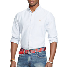 Buy Polo Ralph Lauren Striped Oxford Shirt, Blue/White Online at johnlewis.com