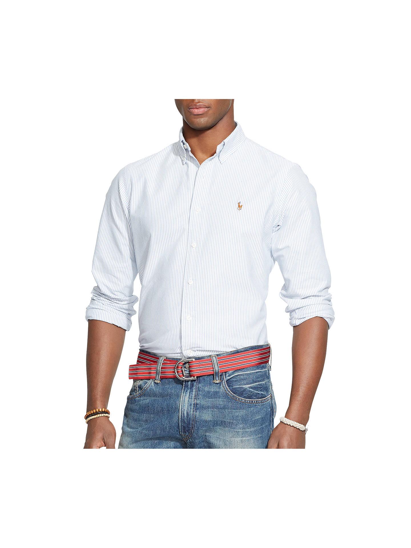 63a8e81ab72b BuyPolo Ralph Lauren Striped Oxford Shirt,, Blue White, S Online at  johnlewis ...
