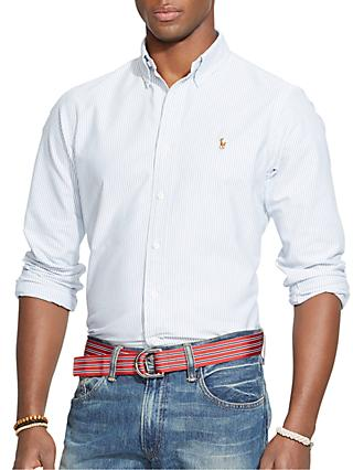 Polo Ralph Lauren Striped Oxford Shirt, Blue/White