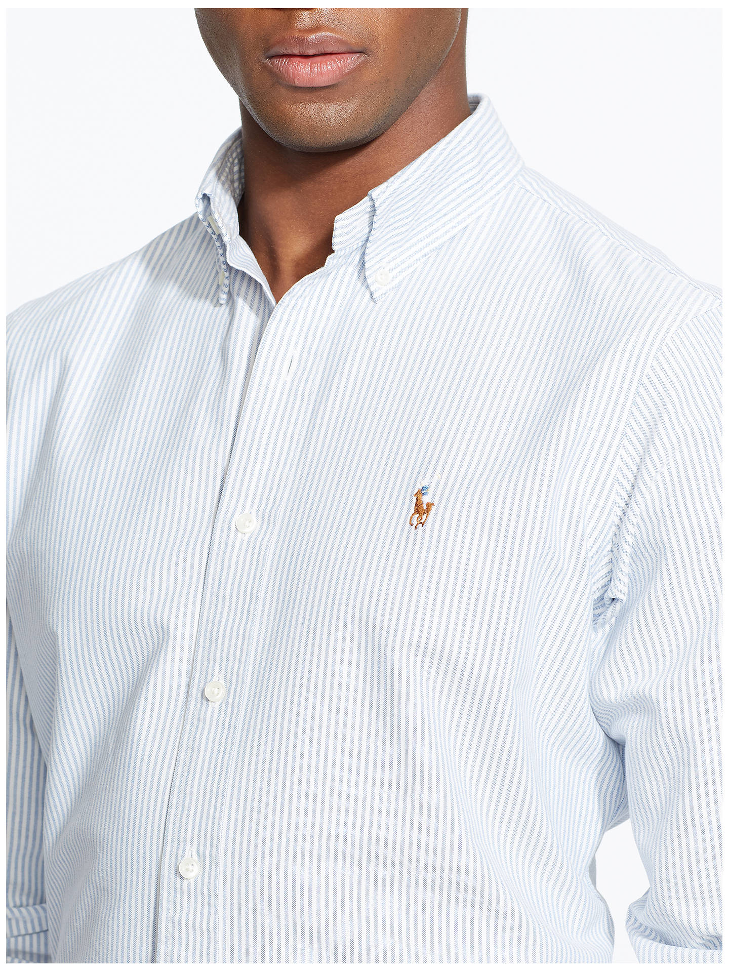 Lauren Polo ShirtBluewhite Ralph Striped Oxford eHYWbED92I