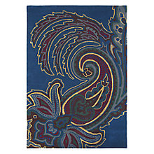 Buy Ted Baker Paisley Rug, Navy Online at johnlewis.com
