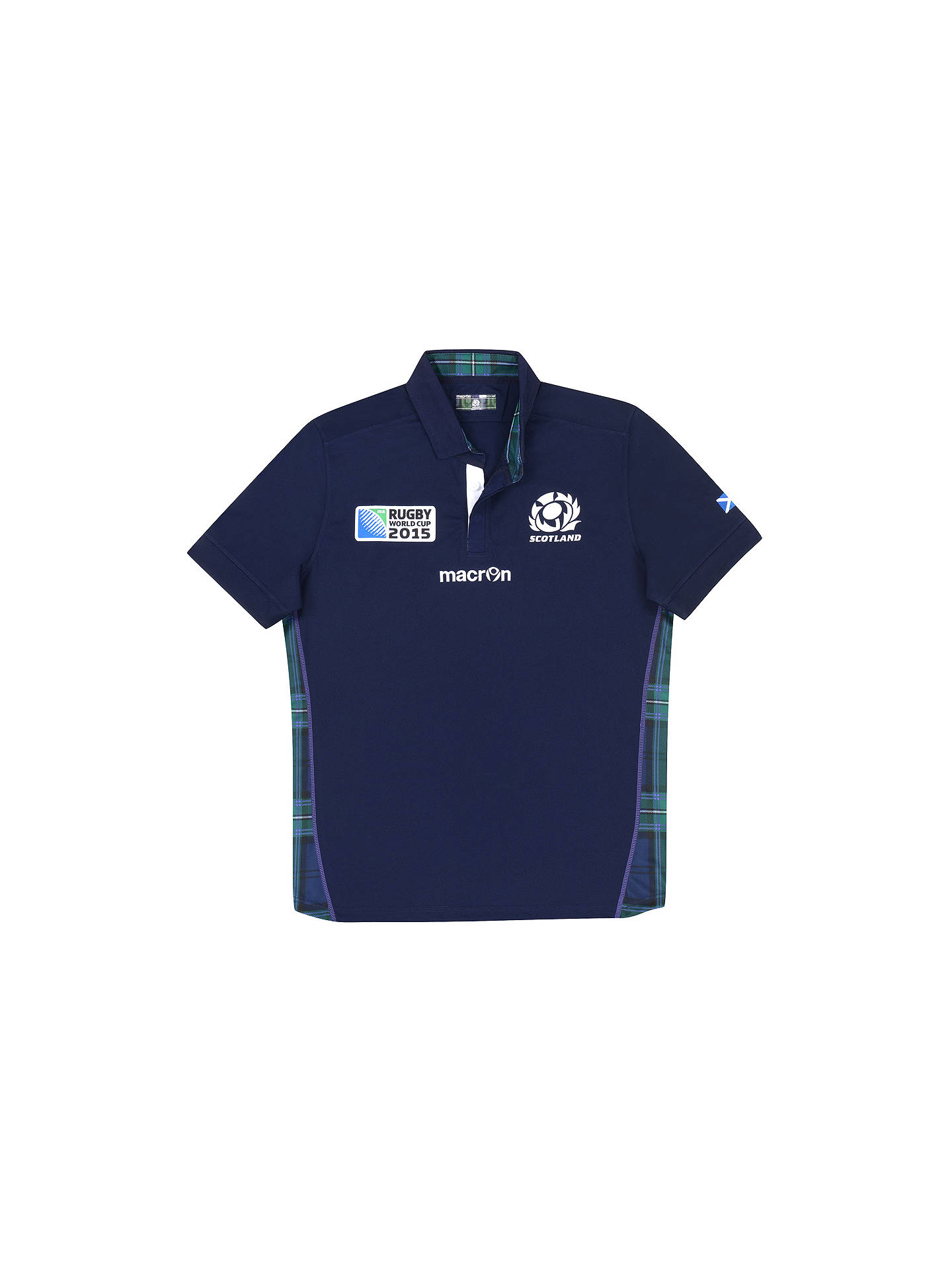 28aac4cb3b2 Buy Macron Scotland Rugby World Cup 2015 Rugby Shirt, Navy, S Online at  johnlewis