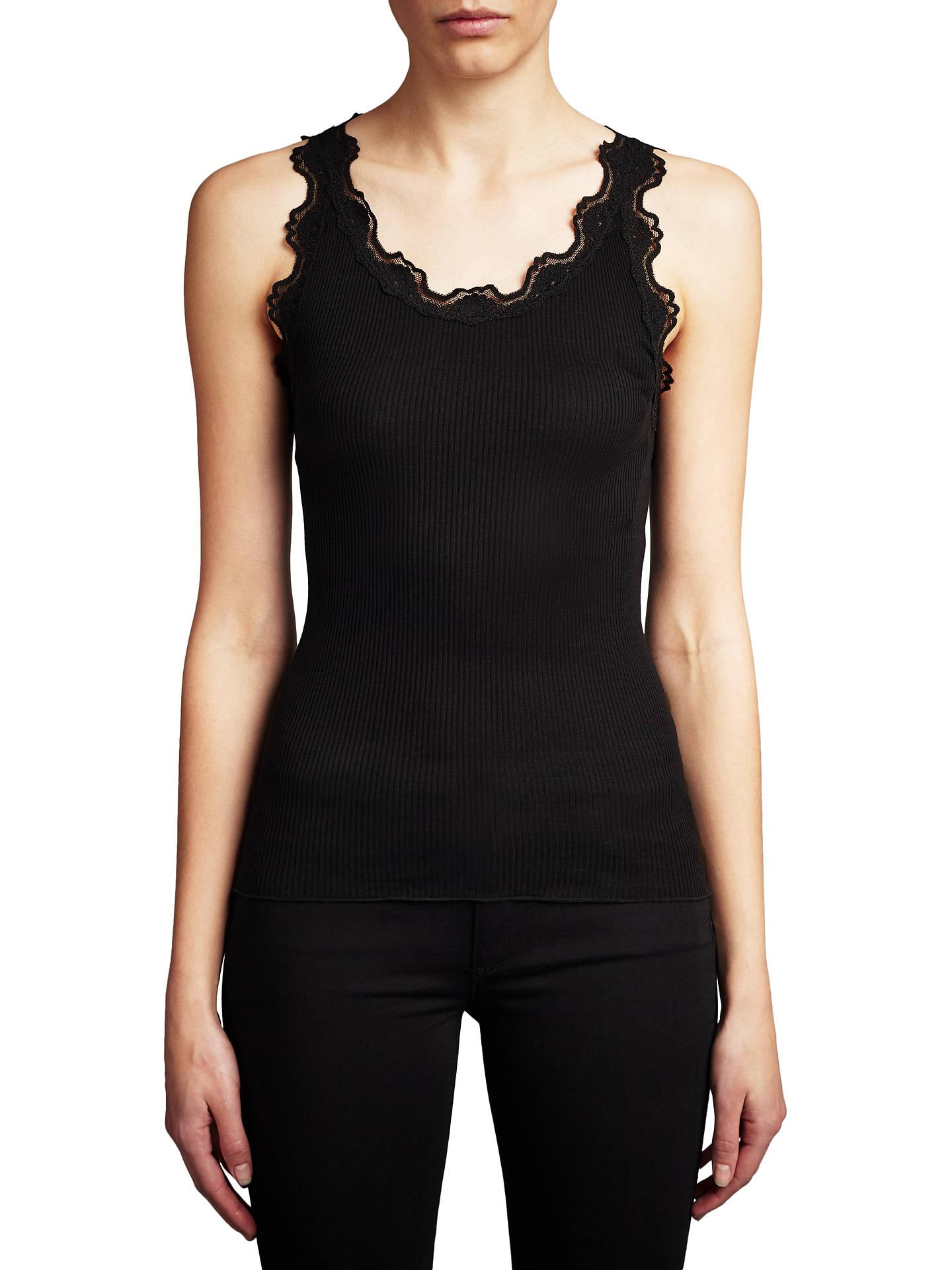 7b9a51edd61281 Buy Rosemunde Lace Vest, Black, S Online at johnlewis.com ...