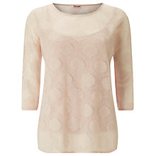 Buy Phase Eight Spot Pointelle Top, Toast Online at johnlewis.com