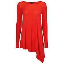 Buy Phase Eight Amara Asymmetric Knit Top, Pout Online at johnlewis.com