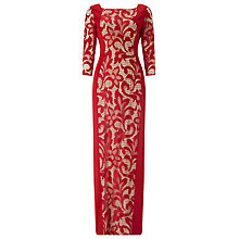 Buy Phase Eight Isobel Illusion Dress, Red/Cream Online at johnlewis.com