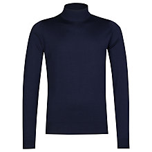 Buy John Smedley Harcourt Turtle Neck Jumper, Midnight Online at johnlewis.com