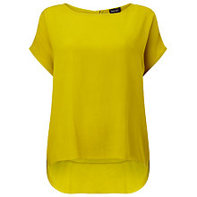 Buy Phase Eight Lana Crepe Blouse, Chartreuse Online at johnlewis.com