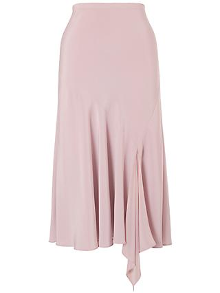 Chesca Satin Back Godet Skirt, Powder Pink