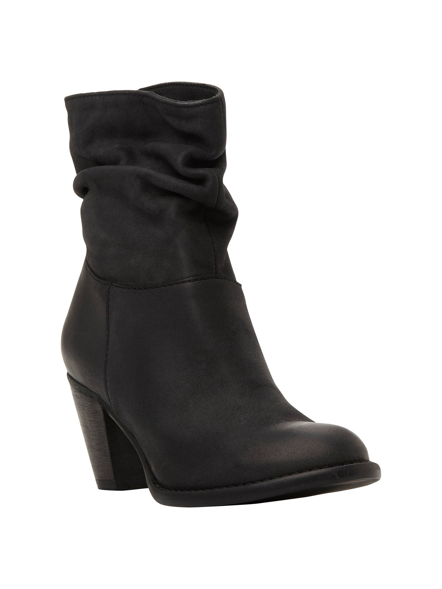 d7c4b3a0f0fd Steve Madden Welded Slouch Leather Ankle Boots at John Lewis   Partners
