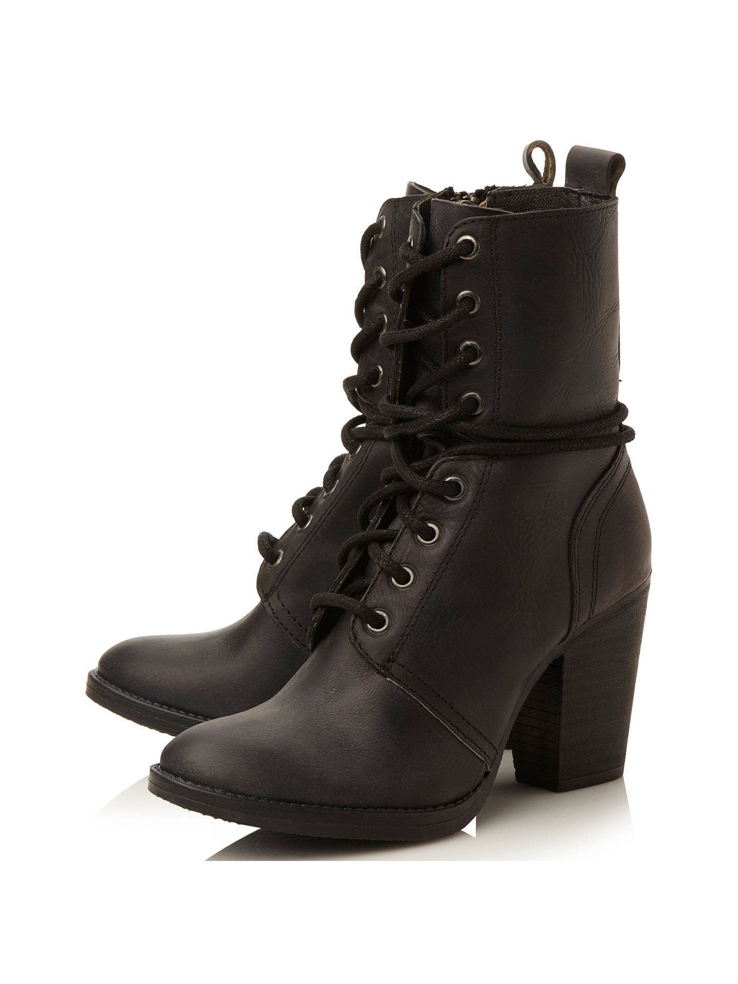 best loved new styles 100% authentic Steve Madden Jupiter Block Heeled Lace Up Ankle Boots at ...