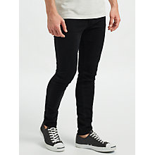 Buy Scotch & Soda Skim The Nero Skinny Jeans, Black Online at johnlewis.com