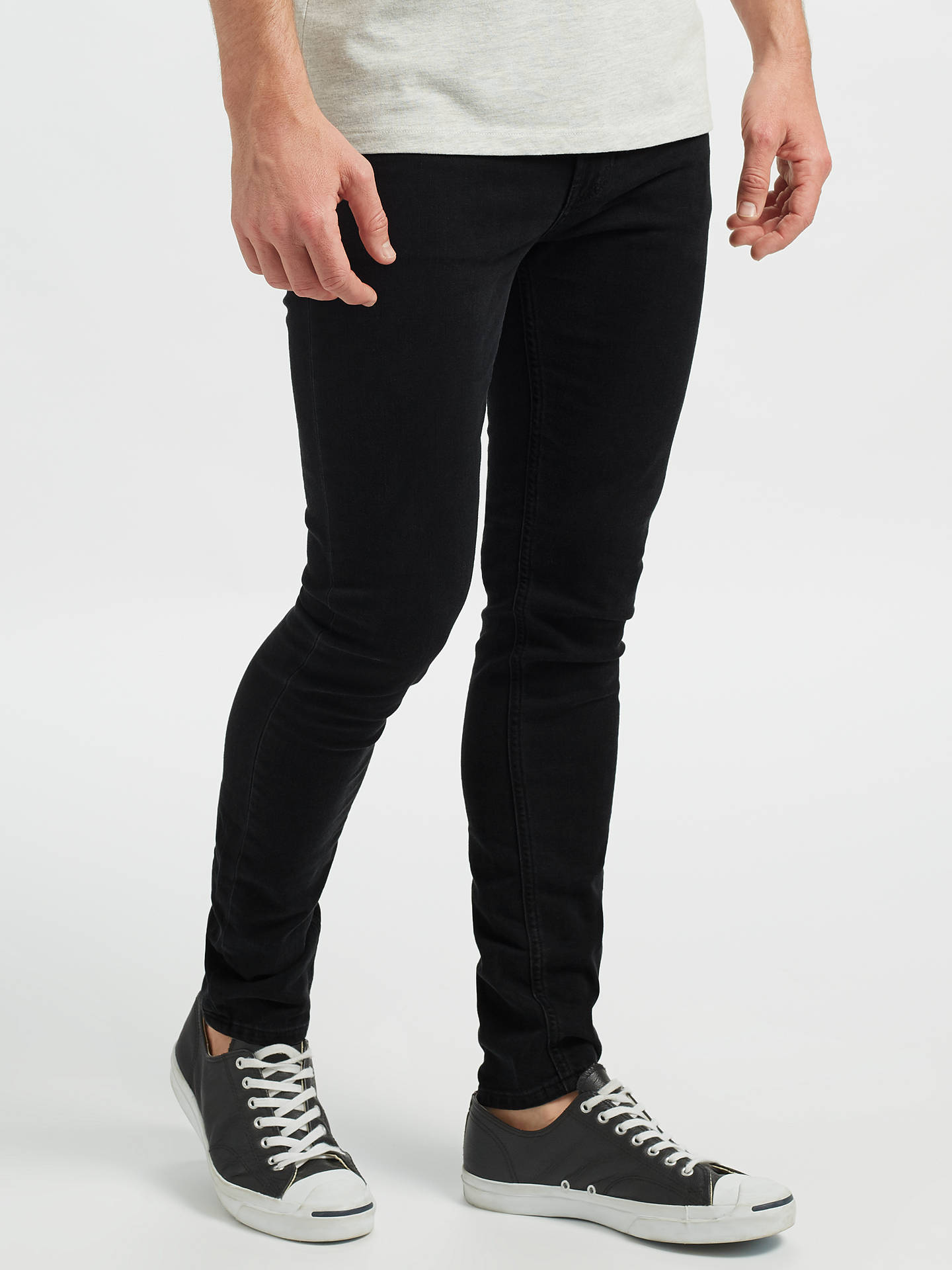 4bb1e75c87 Scotch & Soda Skim The Nero Skinny Jeans, Black at John Lewis & Partners