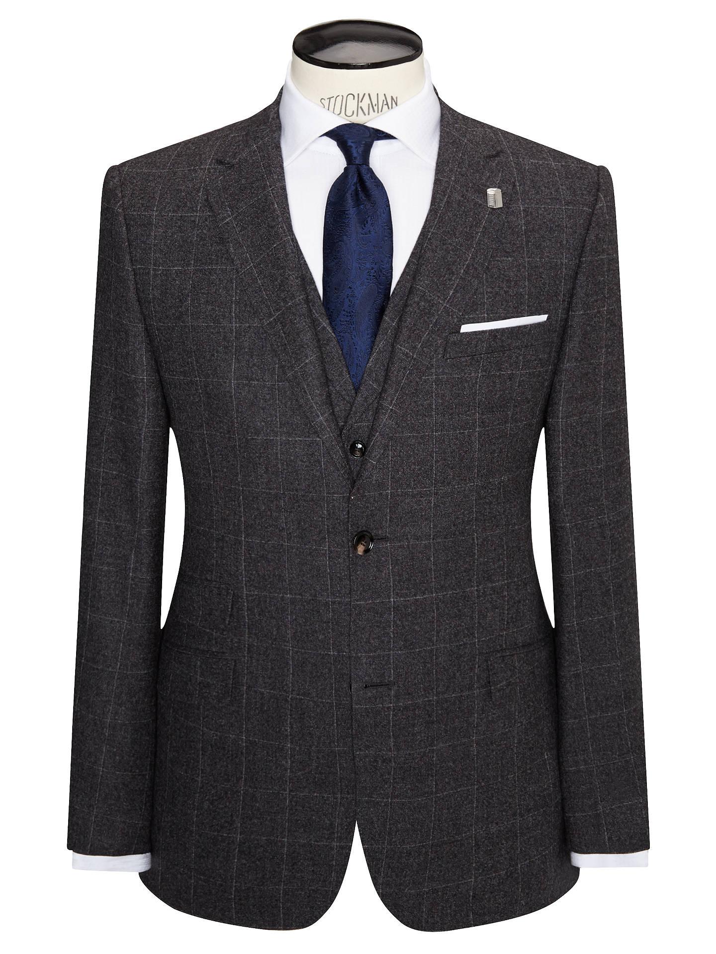 671abfbcb5581e BuyTed Baker Maltez Melange Windowpane Regular Fit Suit Jacket