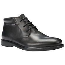 Buy Geox  Brayden Amphibiox Waterproof Leather Chukka Boots, Black Online at johnlewis.com