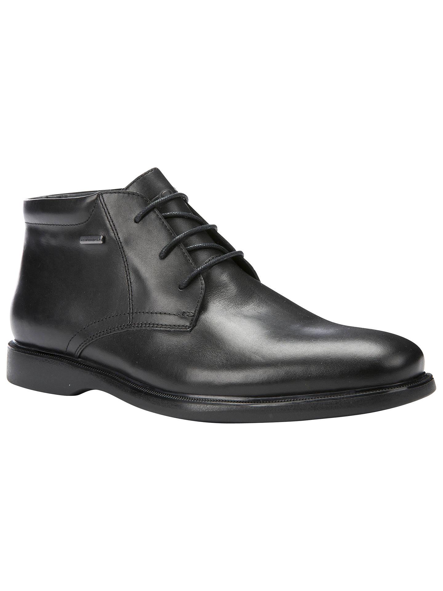 d9bbccba38 Buy Geox Brayden Amphibiox Waterproof Leather Chukka Boots, Black, 7 Online  at johnlewis.