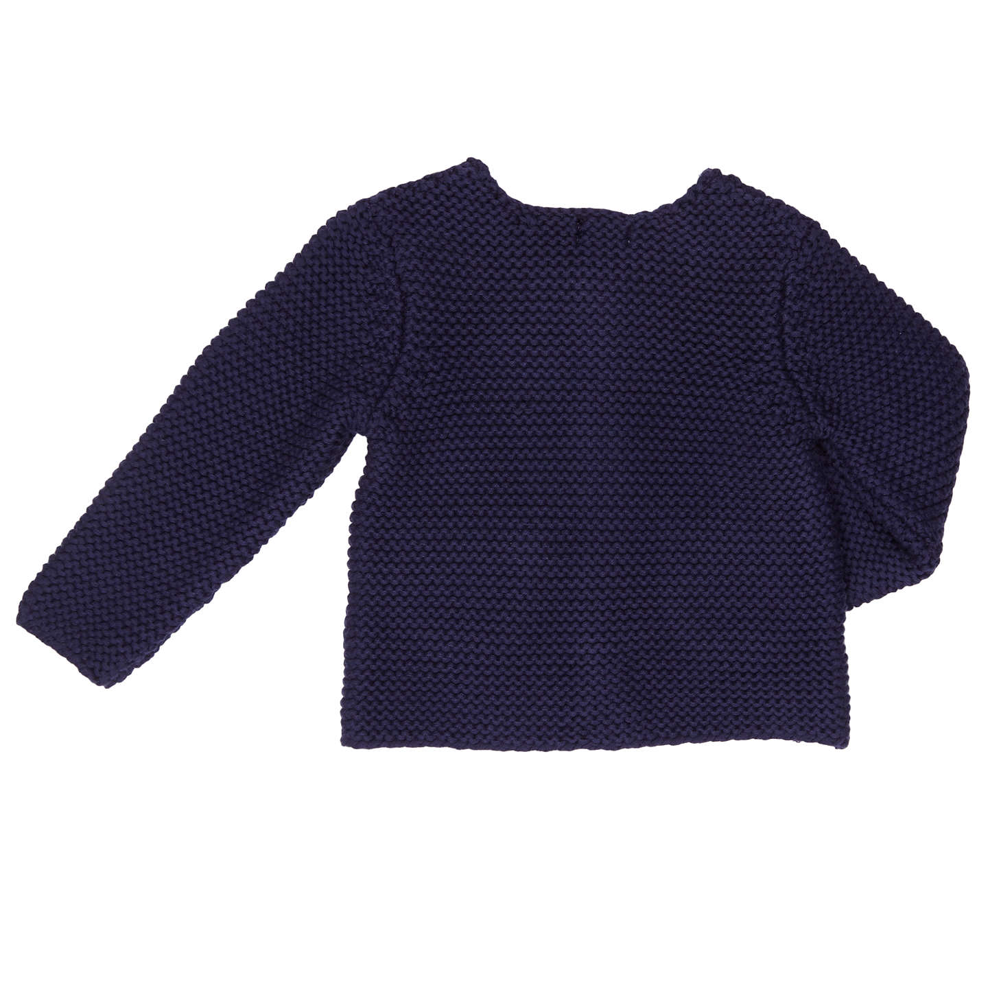 BuyJohn Lewis Baby Chunky Knitted Cardigan, Navy, Tiny baby Online at johnlewis.com