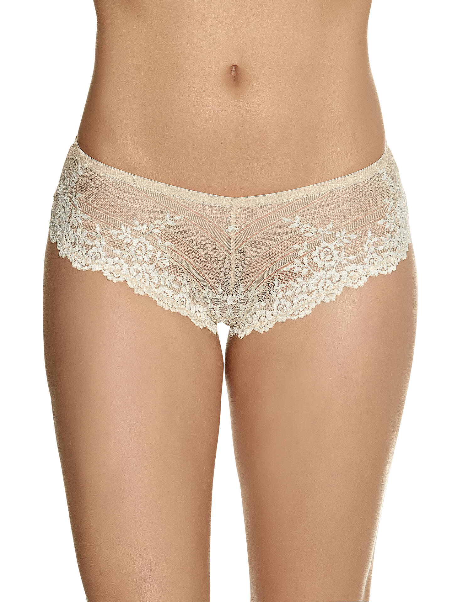 dcb389b88743 Buy Wacoal Embrace Lace Tanga Briefs, Nude / Ivory, S Online at johnlewis.