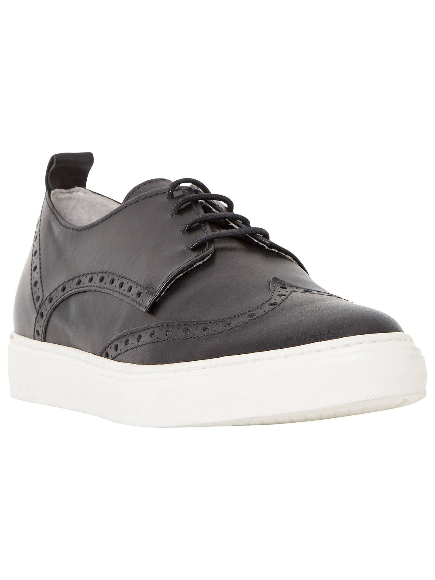 bb6f87b5892 Dune Black Effy Leather Brogue Trainers at John Lewis & Partners