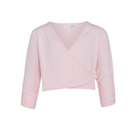 buy john lewis girls ballet wrap cardigan pink john lewis