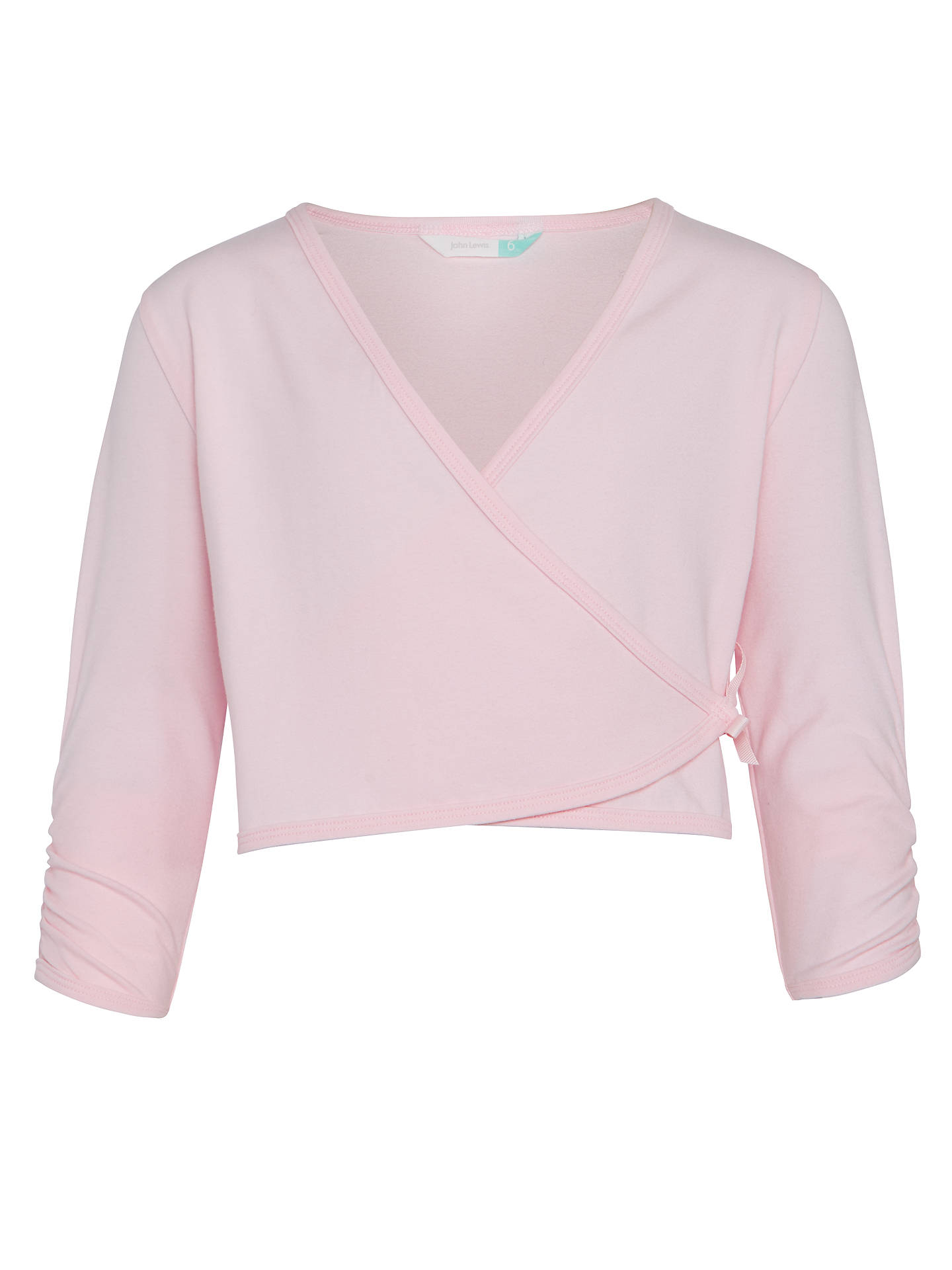BuyJohn Lewis & Partners Girls' Ballet Wrap Cardigan, Pink, 2 years Online at johnlewis.com