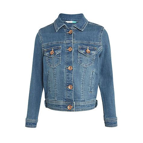 Buy John Lewis Girls' Denim Jacket, Blue | John Lewis