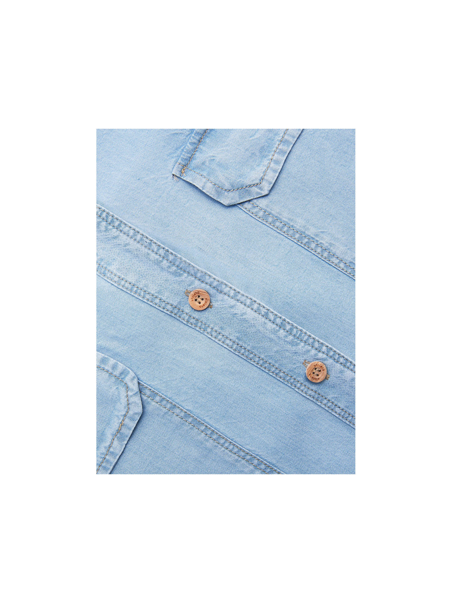 BuyVioleta by Mango Bleached Denim Shirt, Light Blue, 14 Online at johnlewis.com