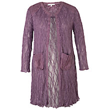 Buy Chesca Satin Trim Lace Coat, Haze Online at johnlewis.com