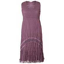 Buy Chesca Crush Pleat Lace Dress, Haze Online at johnlewis.com