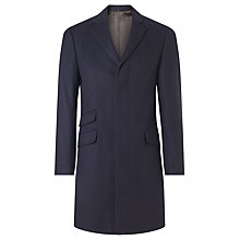 Buy John Lewis Pure Cashmere Epsom Overcoat, Navy Online at johnlewis.com