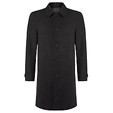 Buy John Lewis Wool Cashmere Tailored Overcoat, Charcoal Online at johnlewis.com