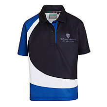 Buy St. Mary's School, Cambridge Girls' Polo Shirt, Navy Online at johnlewis.com