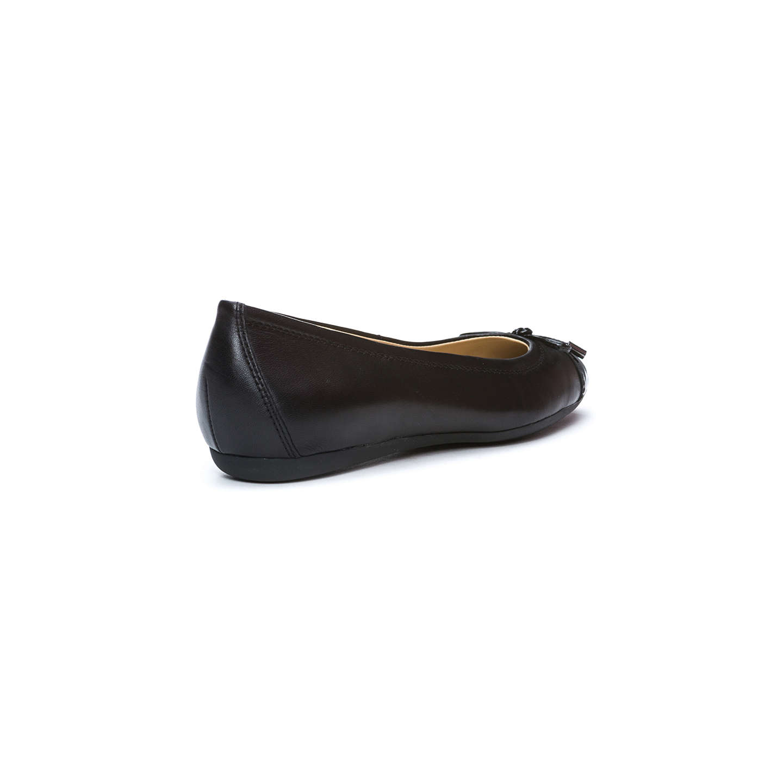 ... BuyGeox Women's Lola Flat Bow Detail Ballet Pumps, Black Leather, 3  Online at johnlewis ...