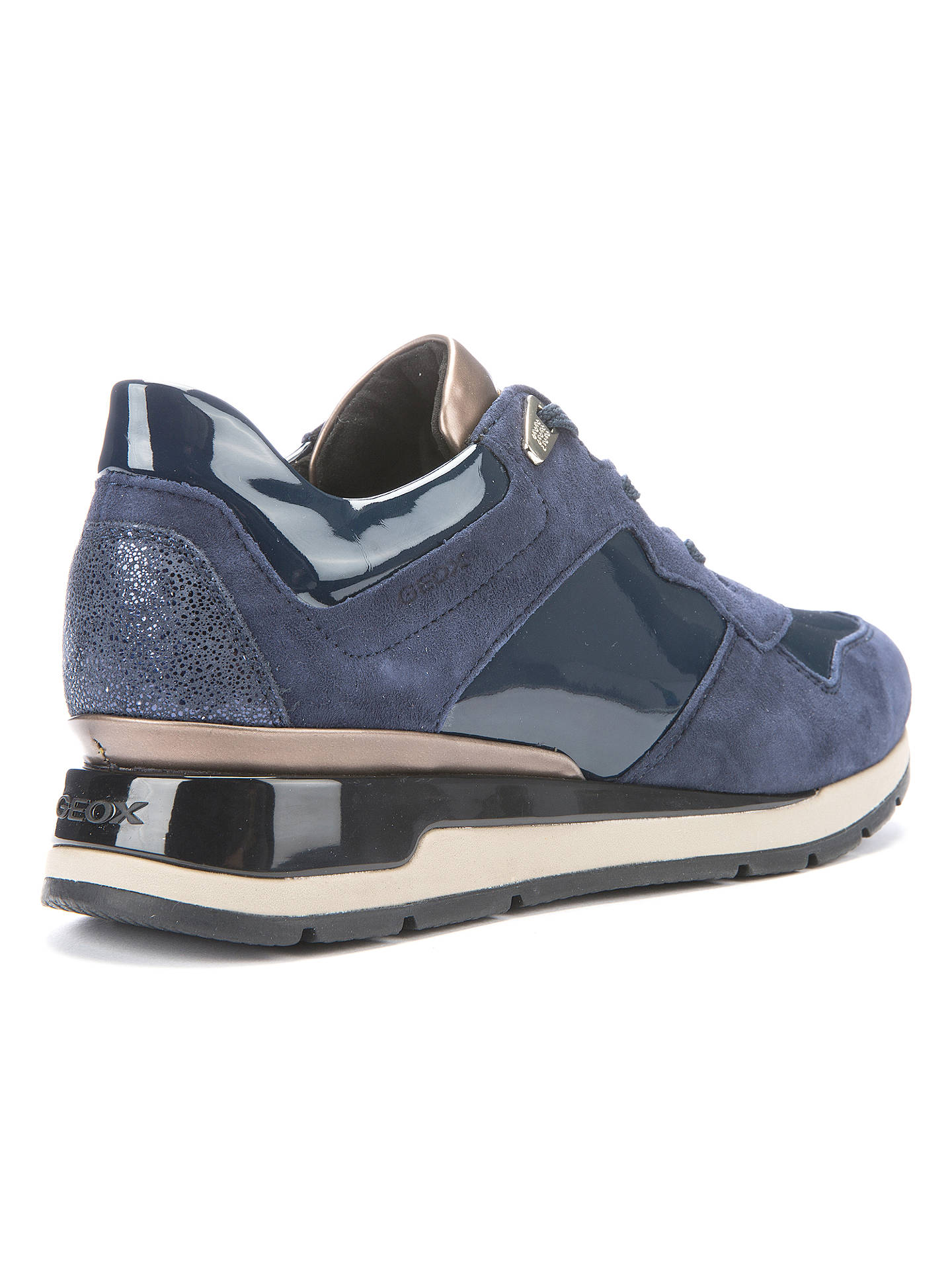 de15e201b21 ... Buy Geox Shahira Lace Up Trainers, Navy, 4 Online at johnlewis.com