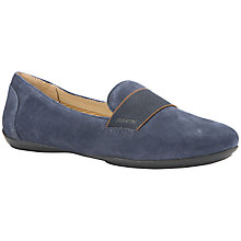 Buy Geox Charlene Flat Slip On Pumps, Navy Leather Online at johnlewis.com