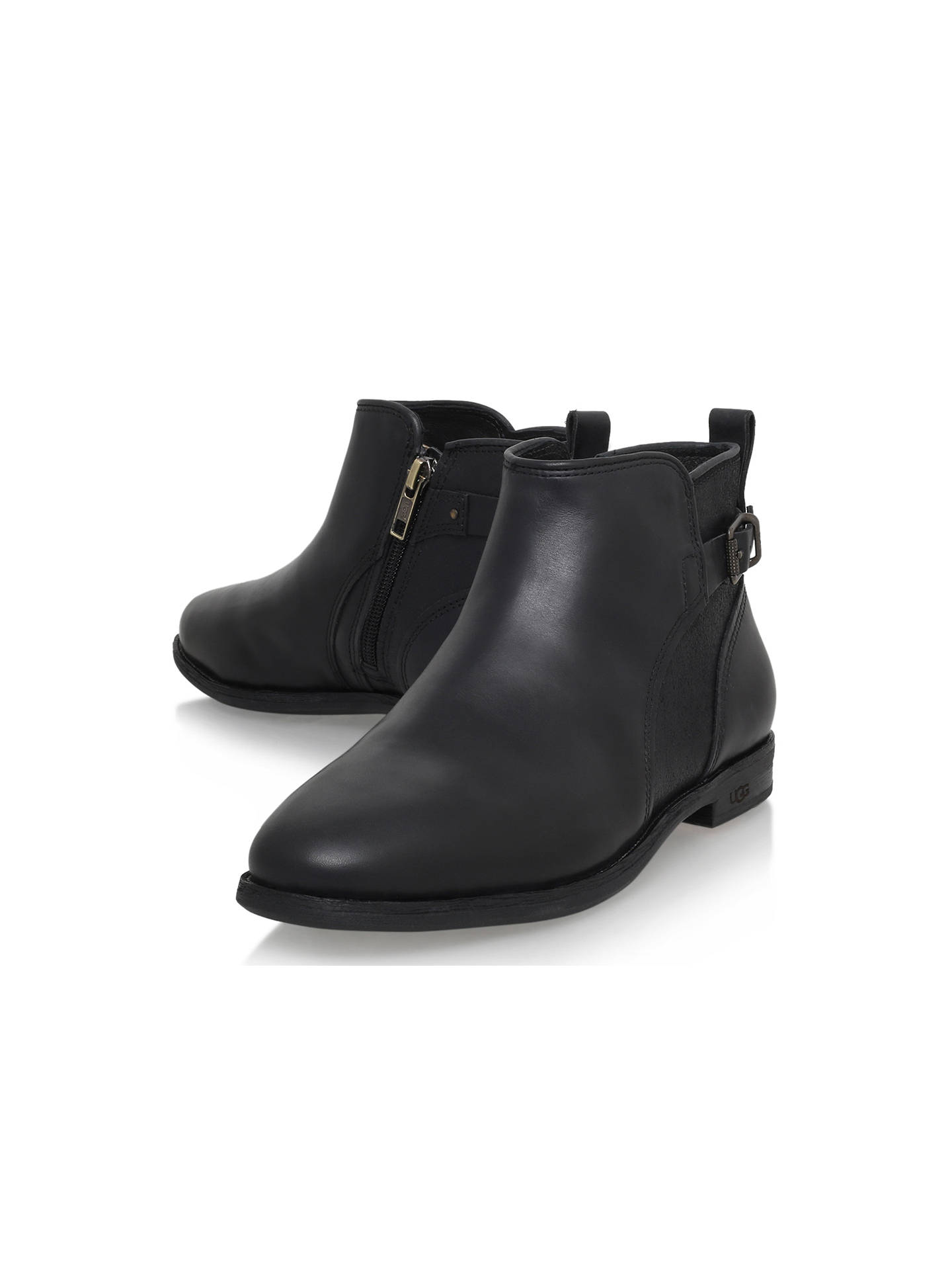 UGG Demi Leather Flat Heeled Chelsea Ankle Boots at John Lewis ... f97611cd0
