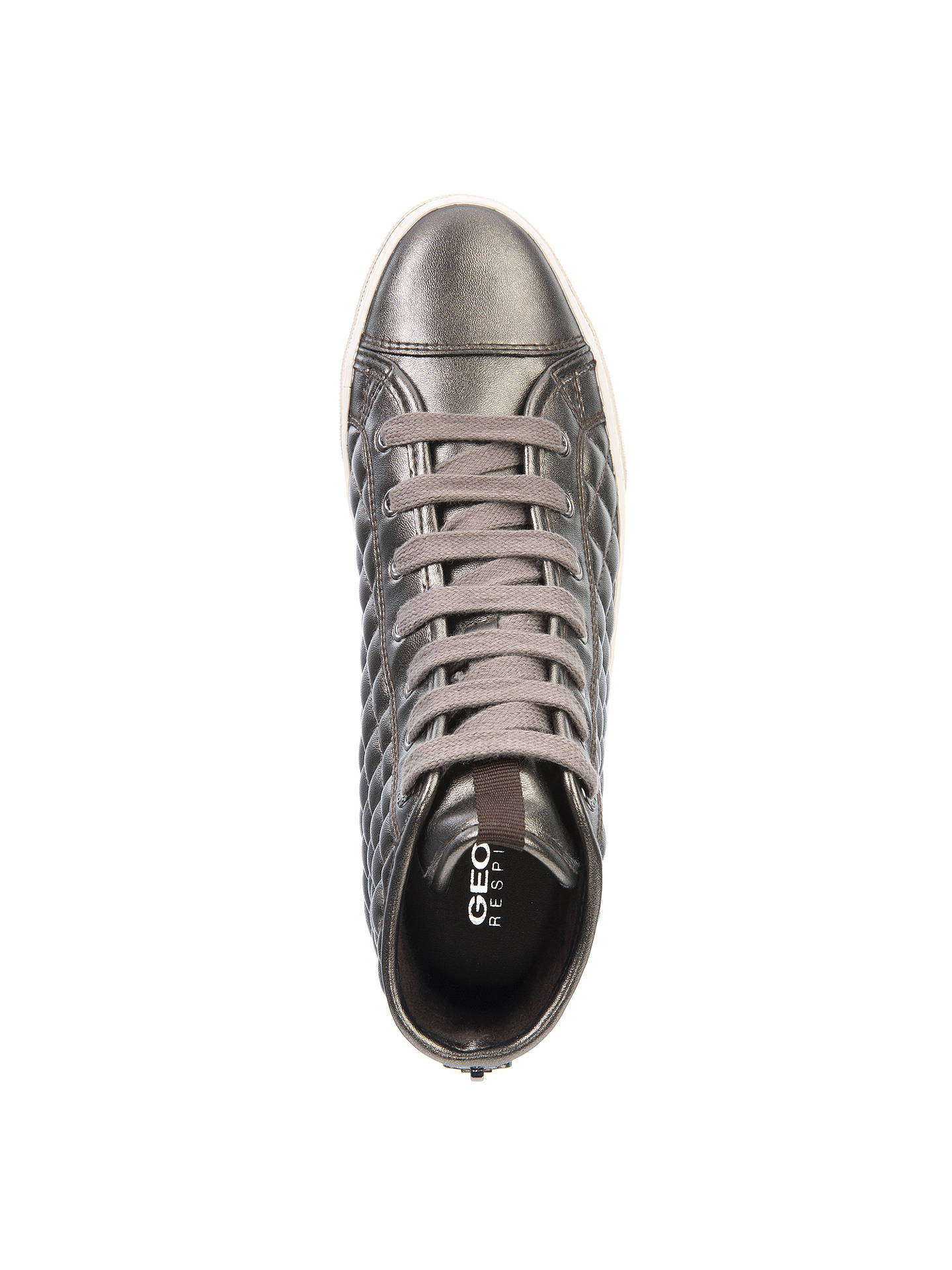 Grey Womens Geox Women's New Club High Top Quilted Trainers