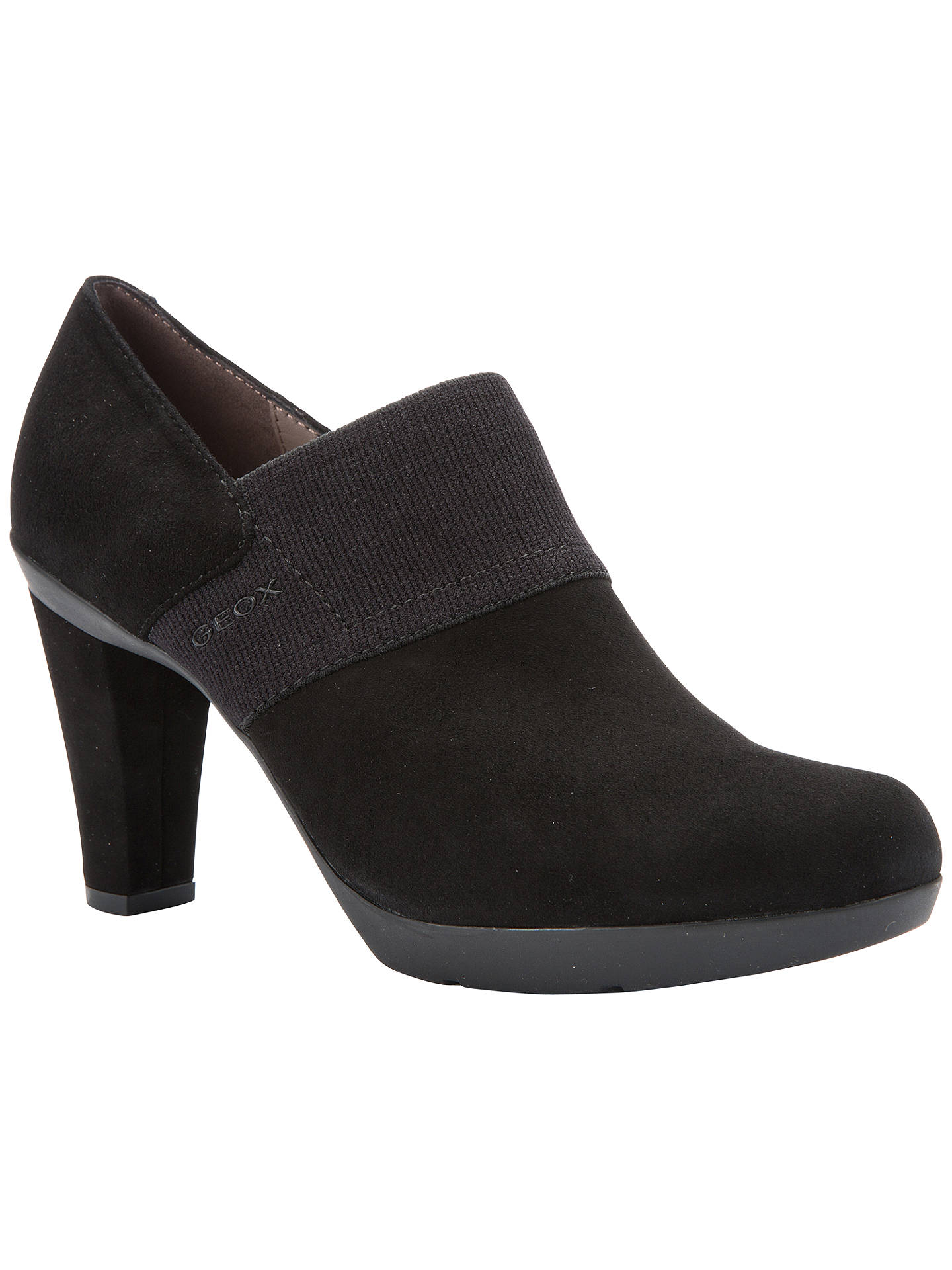 Suede Heeled Block Women's Geox Shoe BootsBlack Inspiration H9DIE2