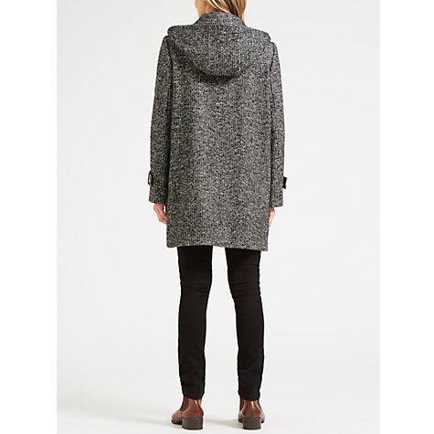 Buy Four Seasons Tweed Duffle Coat, Black/White | John Lewis
