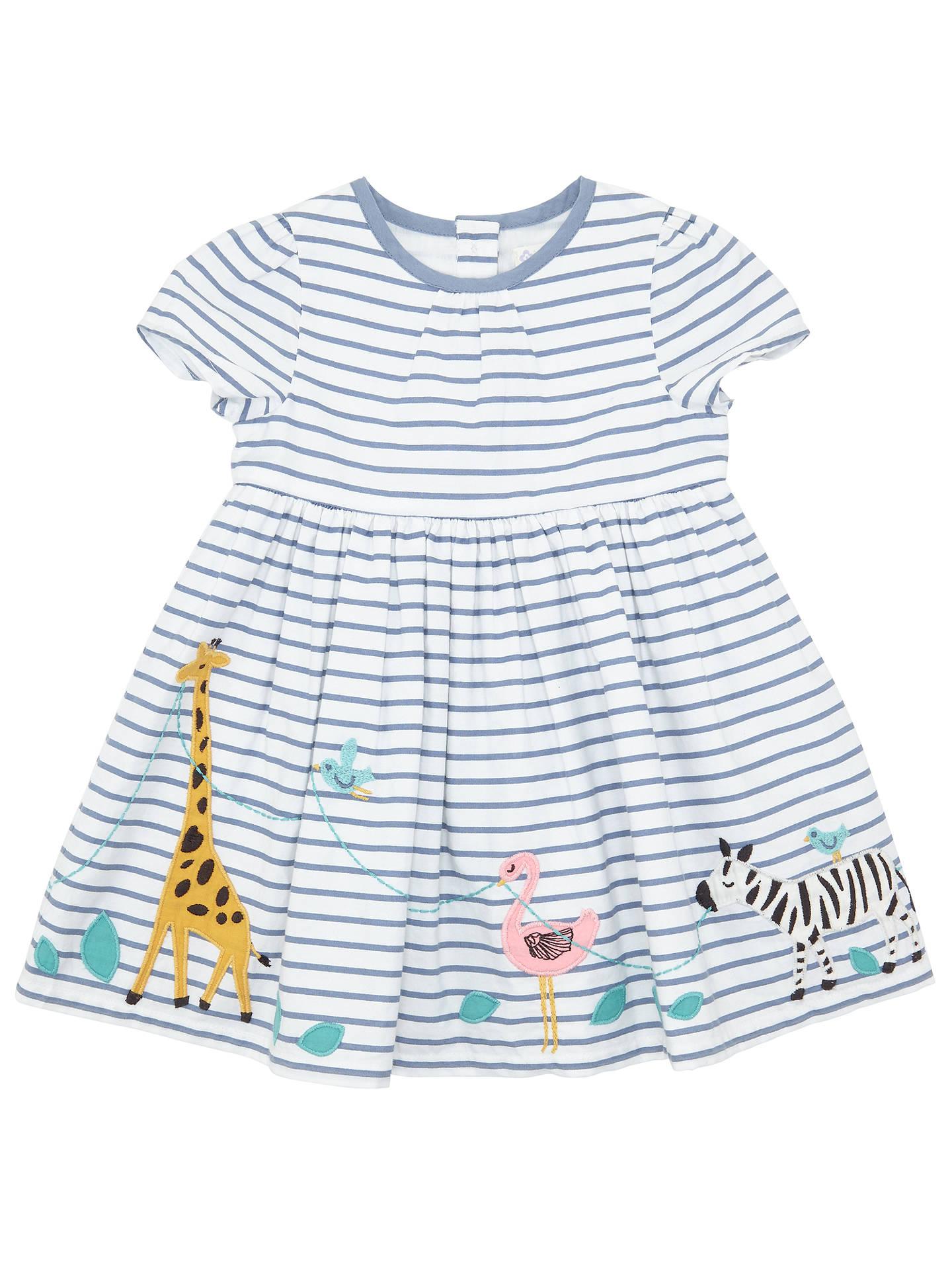 8c1674e1094e John Lewis Baby Safari Border Dress