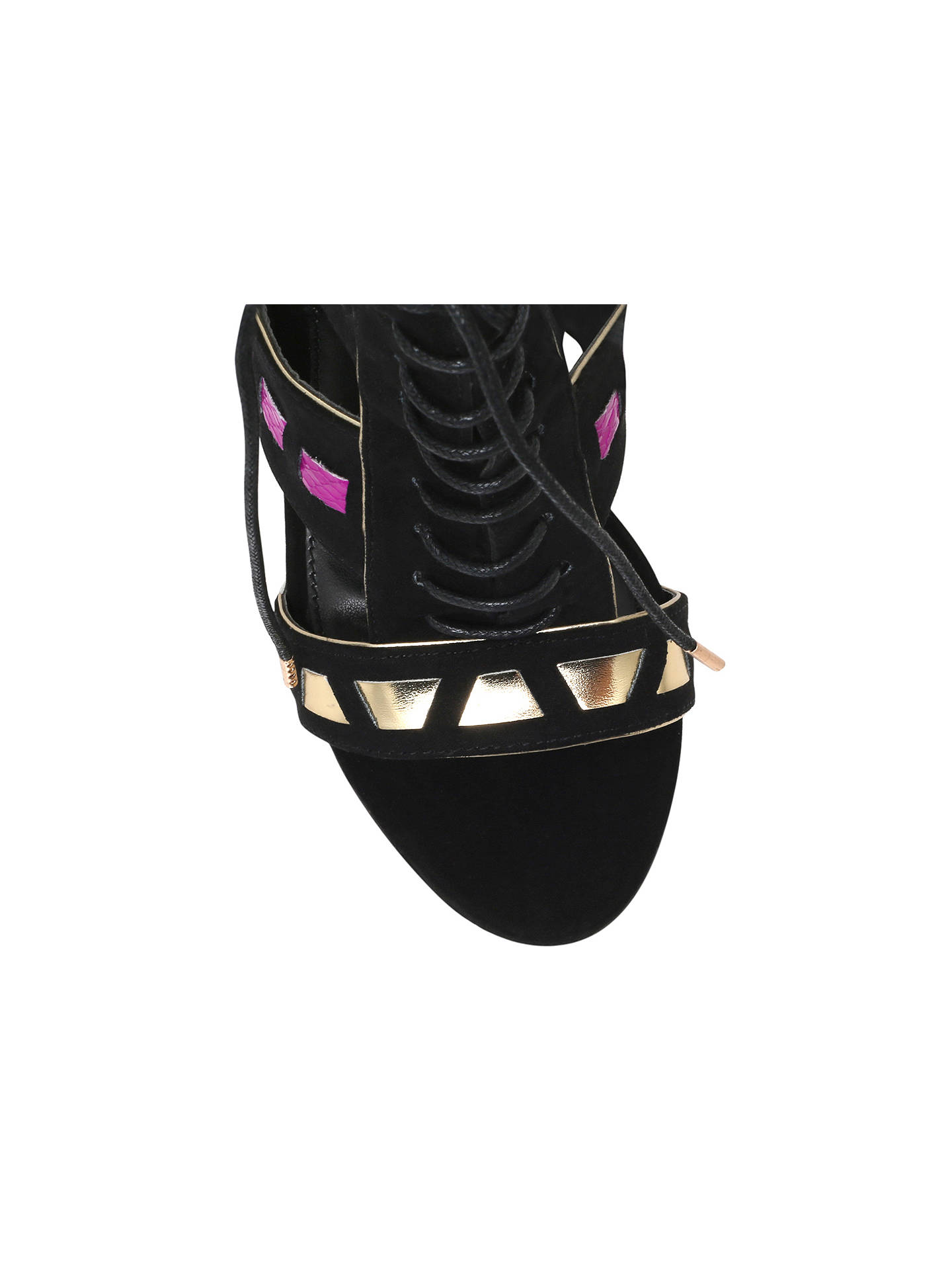 20a477bd53 ... Buy Carvela Giraffe High Heel Sandals, Black, 3 Online at johnlewis.com