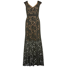 Buy Gina bacconi Stretch Lace Sequin Gown, Black Online at johnlewis.com